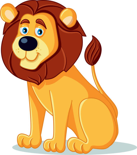 Majestic male lion with full mane clipart. Commercial use GIF, EPS, SVG  clipart # 129583   Graphics Factory