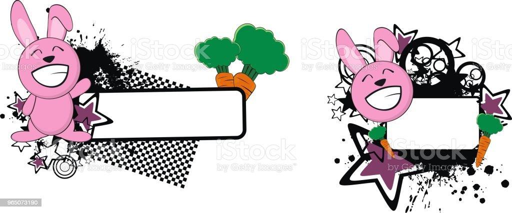 happy little bunny cartoon copy space set royalty-free happy little bunny cartoon copy space set stock vector art & more images of cartoon