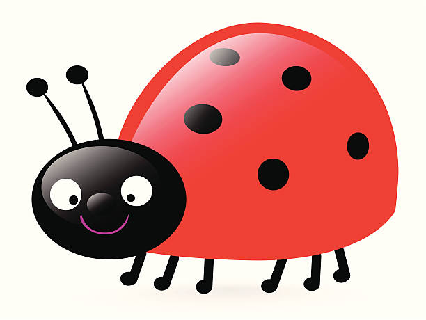 Szczęśliwy małe Biedronka – artystyczna grafika wektorowa