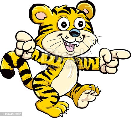 istock happy little tiger 1190359462