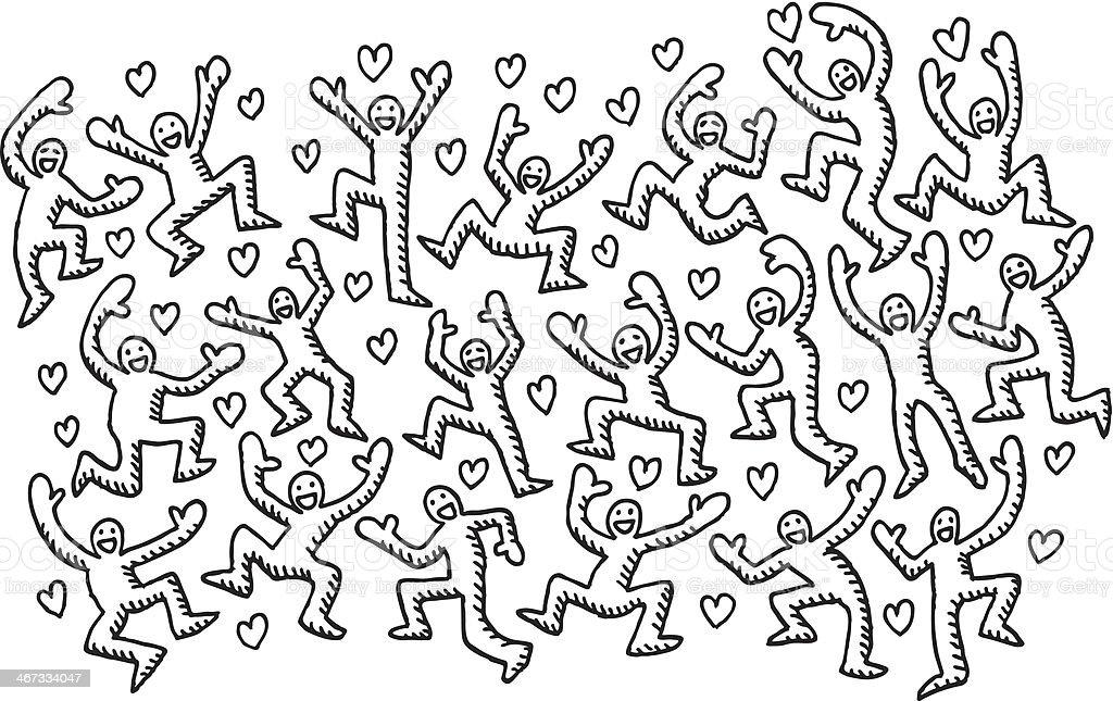 Heureux Amour Personnes Dessin Vecteurs Libres De Droits Et Plus D