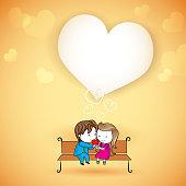 Happy loving Couple on Love Background