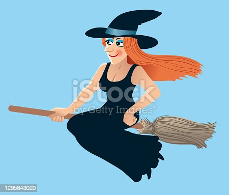 istock Happy Lucky Witch 1295843020