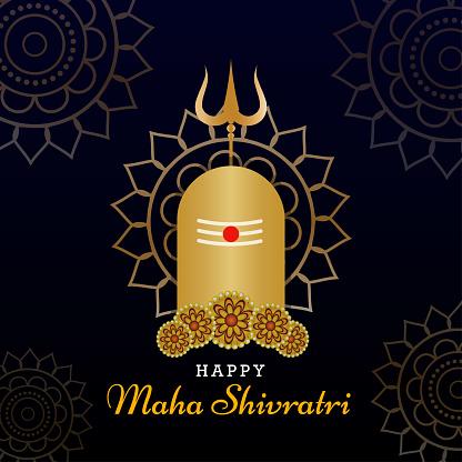Happy Maha Shivratri greeting poster
