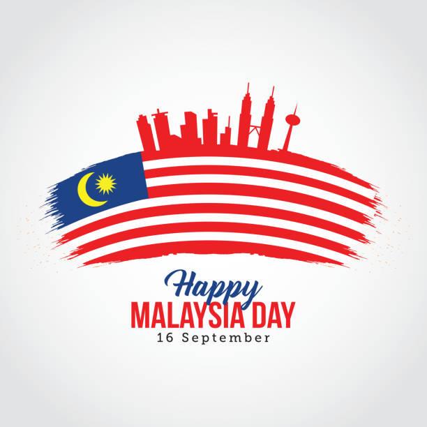 Happy Malaysia Day vector art illustration