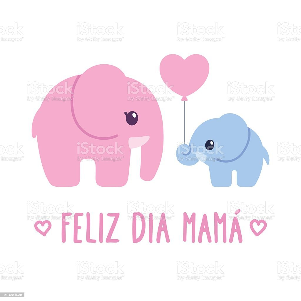 Feliz Dia Mama vector art illustration
