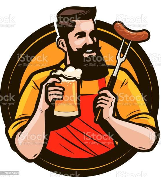Happy man holding a mug of fresh beer brewery pub alcohol drink or vector id975315468?b=1&k=6&m=975315468&s=612x612&h=zbtmw8t7arbltoy 4l16nc5oskraakdiy9worvt3 ik=