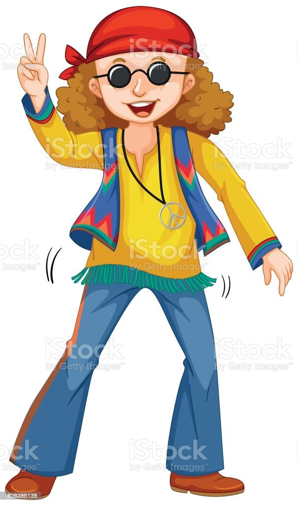 royalty free clip art of hippie clothes clip art vector images rh istockphoto com hippie clipart black and white hippie clip art images