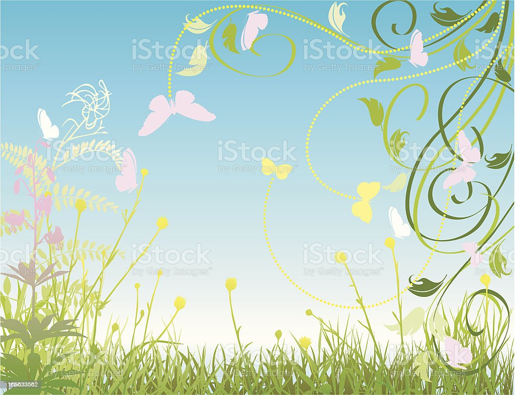 Happy meadow royalty-free stock vector art
