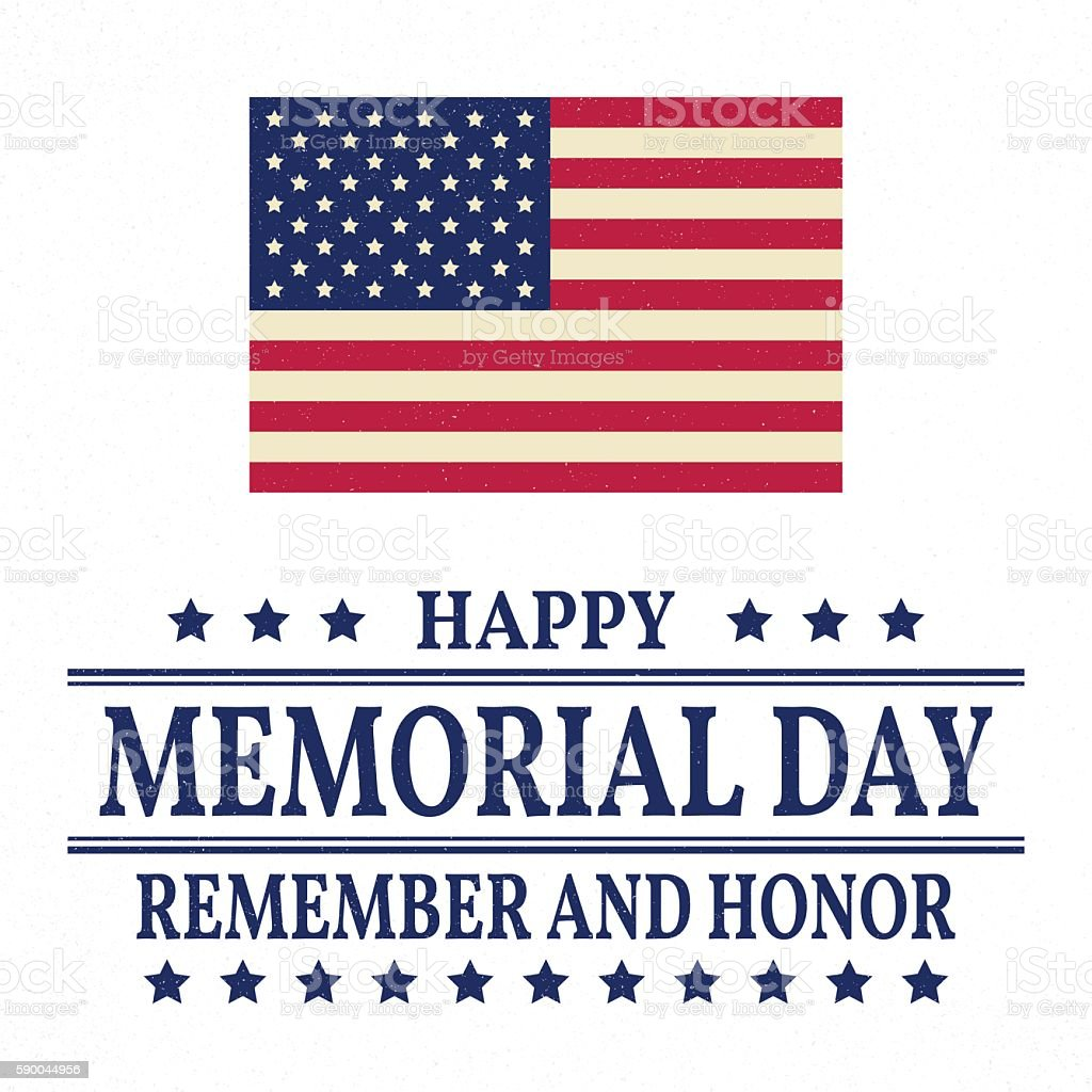 Happy Memorial Day background template. vector art illustration