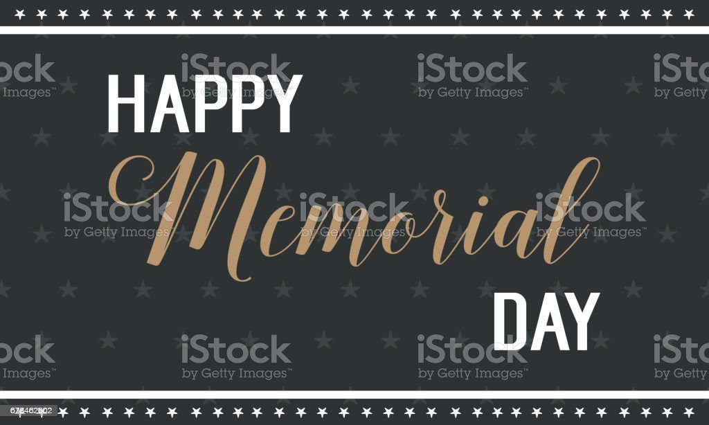 Happy memorial day black background royalty-free happy memorial day black background stock vector art & more images of army