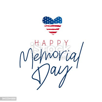 istock Happy Memorial Day card. National american holiday 945394666