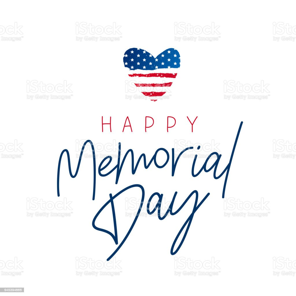 Happy Memorial Day card. National american holiday vector art illustration