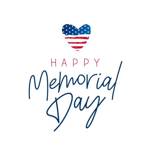 happy memorial day card. national american holiday - memorial day stock illustrations