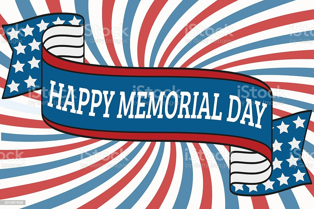 Happy Memorial Day vector art illustration