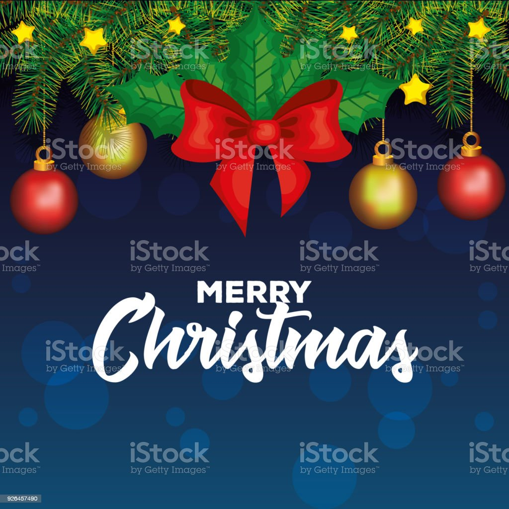 Happy Merry Christmas Card Stock Vector Art More Images Of