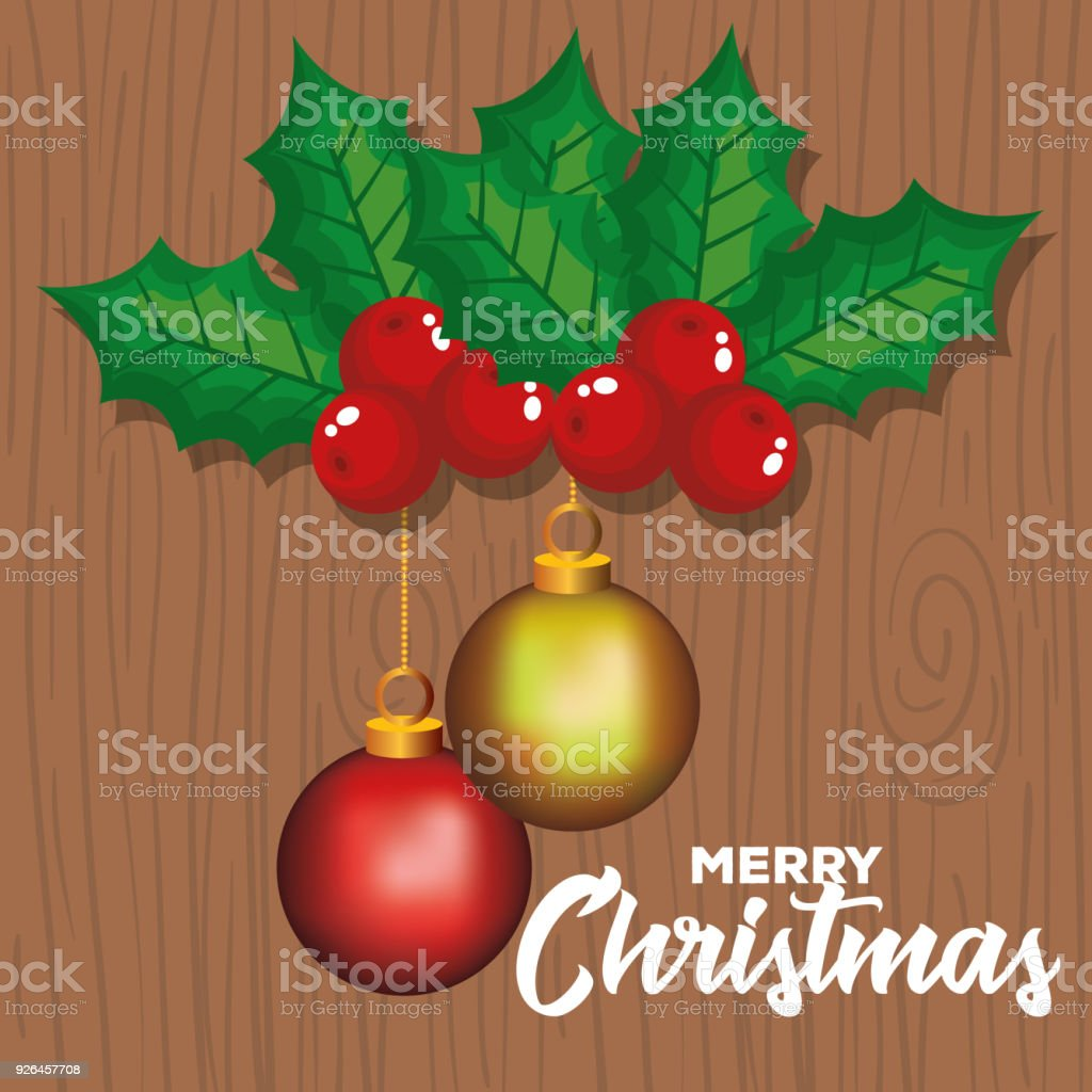 Happy Merry Christmas Card Stock Vector Art More Images Of Ball