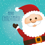 happy merry christmas santa claus character vector illustration design