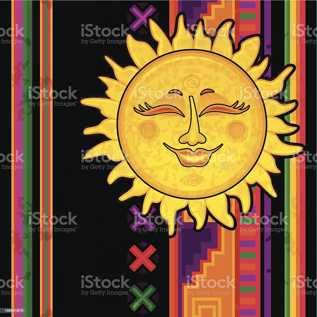 Happy Mexican Sun royalty-free stock vector art