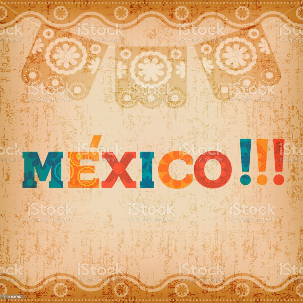 Happy mexico greeting card for mexican holiday stock vector art happy mexico greeting card for mexican holiday royalty free happy mexico greeting card for mexican m4hsunfo