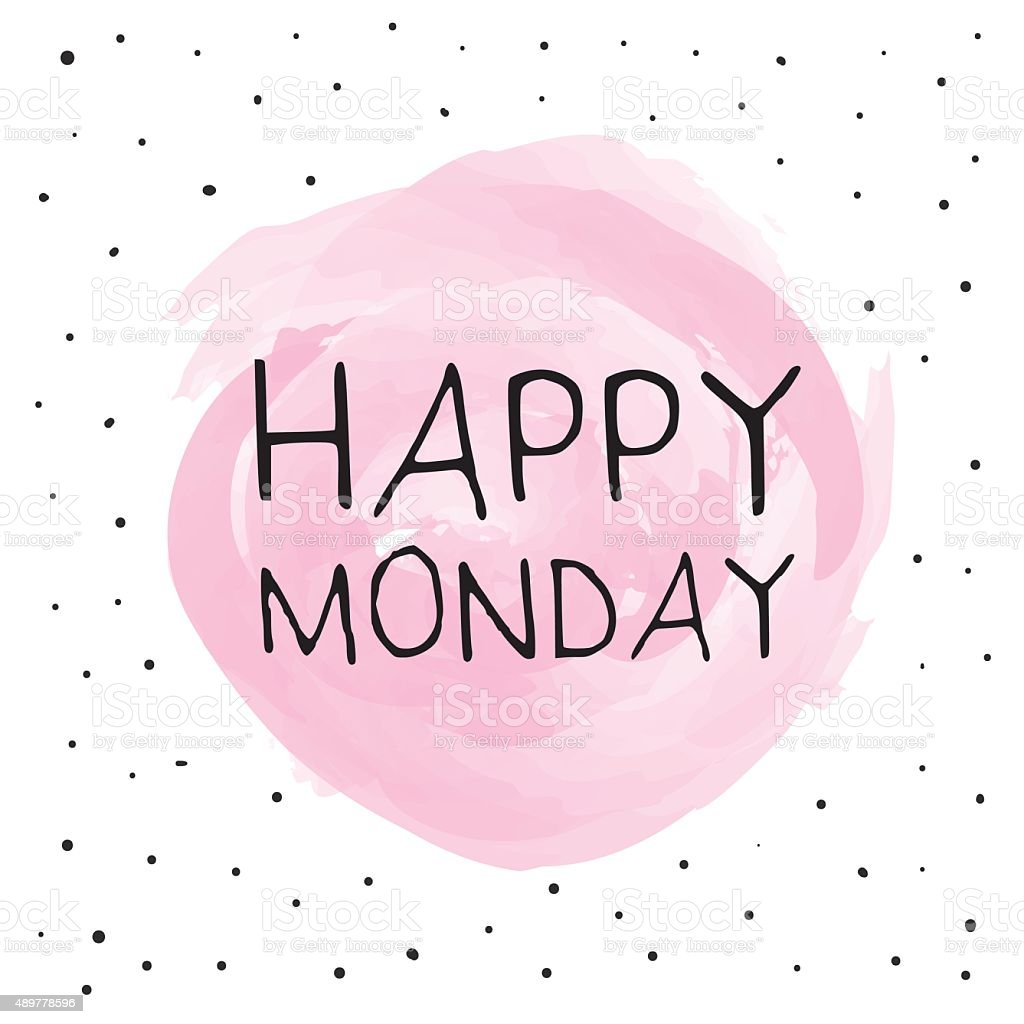 Happy Monday vector art illustration