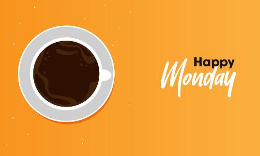 Happy Monday Vector Template Design illustration