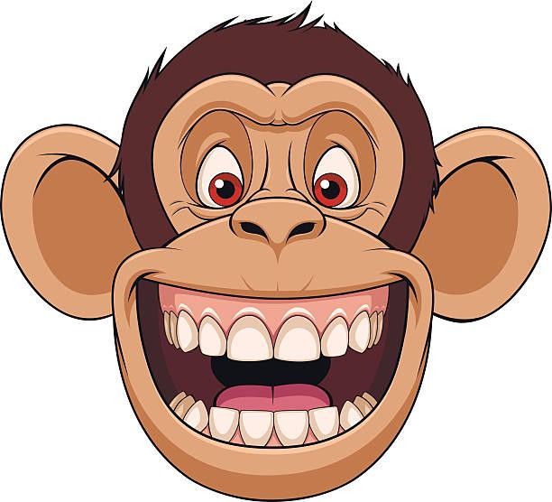 Happy Cartoon Gorilla Face Royalty Free Mo...