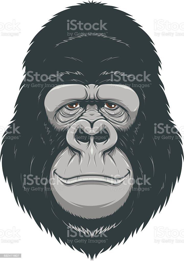 Happy monkey vector art illustration