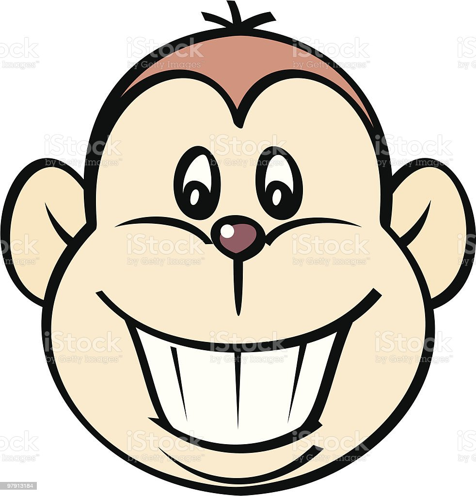 Happy Monkey – Vector Illustration royalty-free happy monkey vector illustration stock vector art & more images of animal