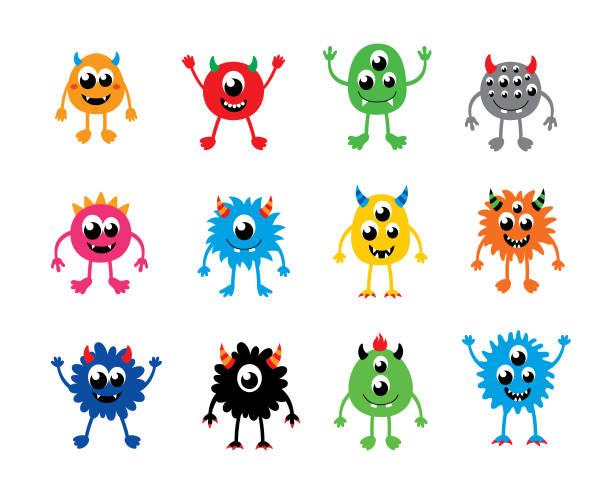 glückliche Monster Vektor Sammlung – Vektorgrafik