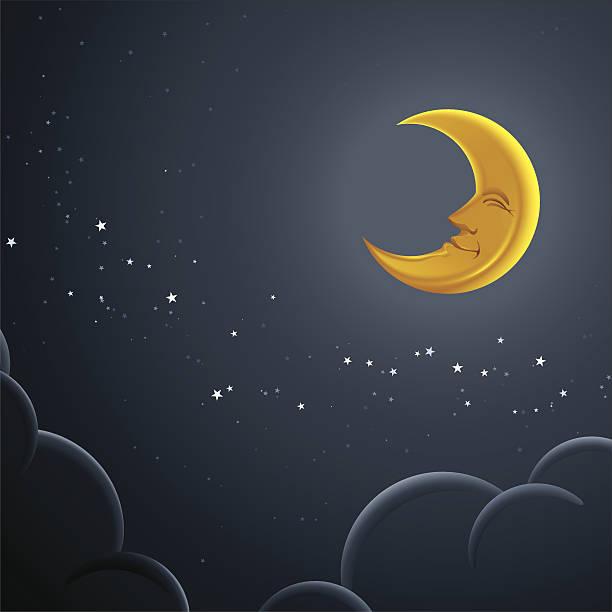 happy moon - 新月 幅插畫檔、美工圖案、卡通及圖標