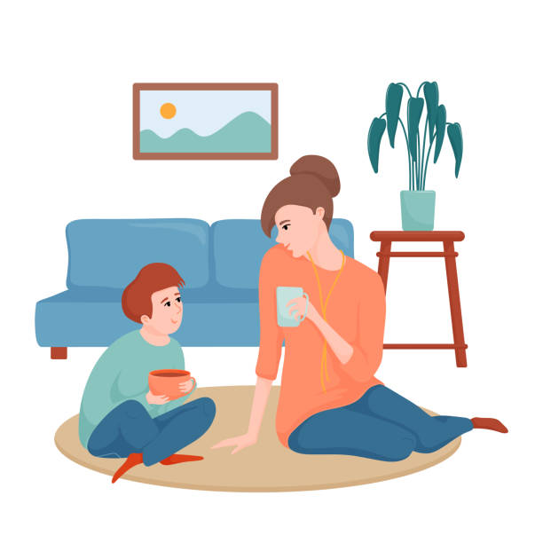 Parent And Child Talking Illustrations, Royalty-Free ...
