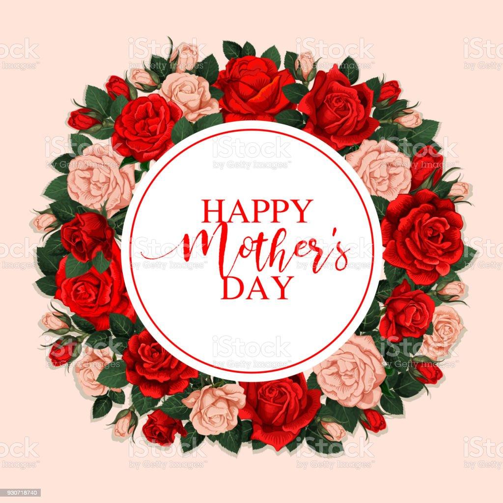 Ilustración de Tarjeta De Felicitación Día De La Madre Feliz Con ...