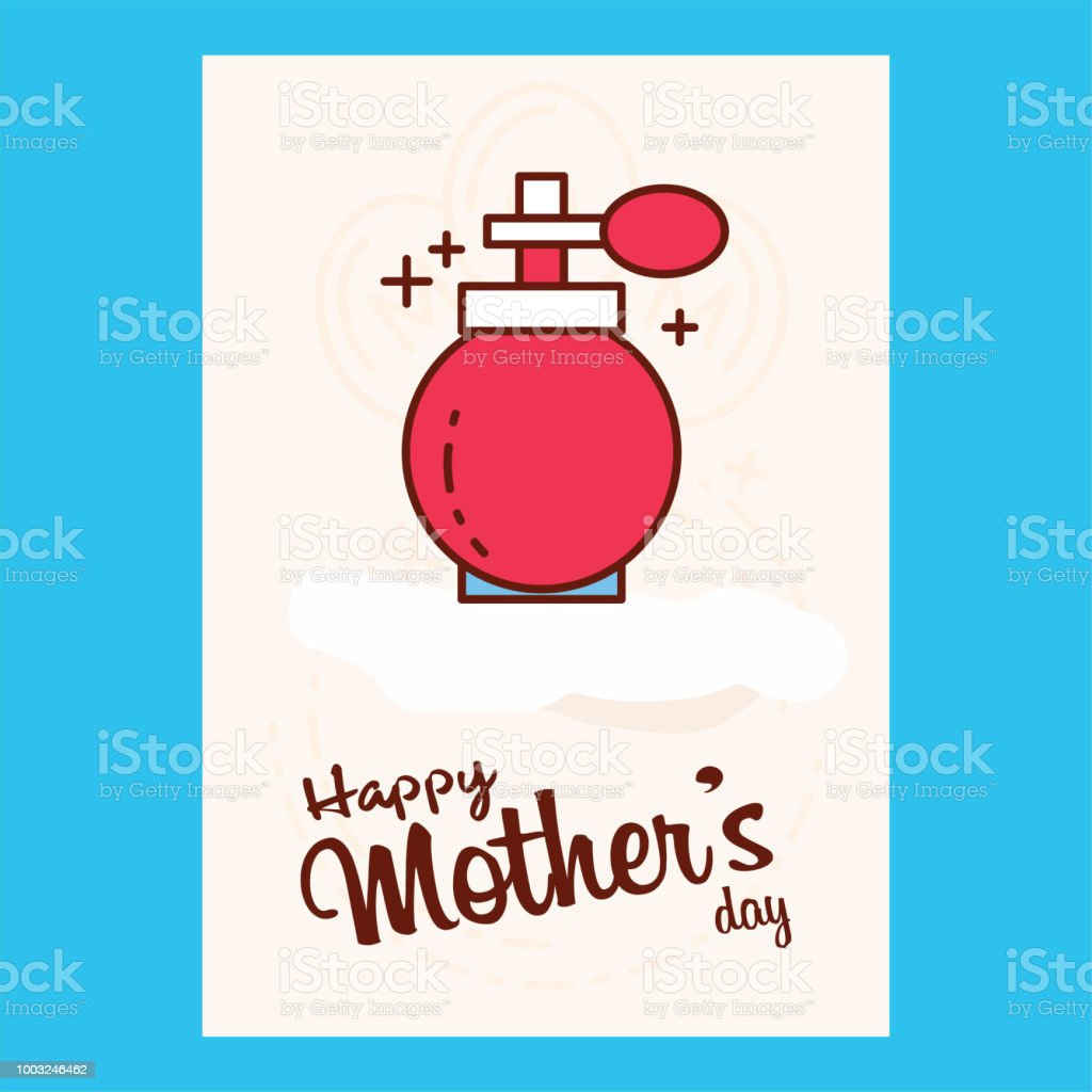 happy mother day, holiday pink flower on blue background. can be use for sale advertisement, backdrop. vector vector art illustration
