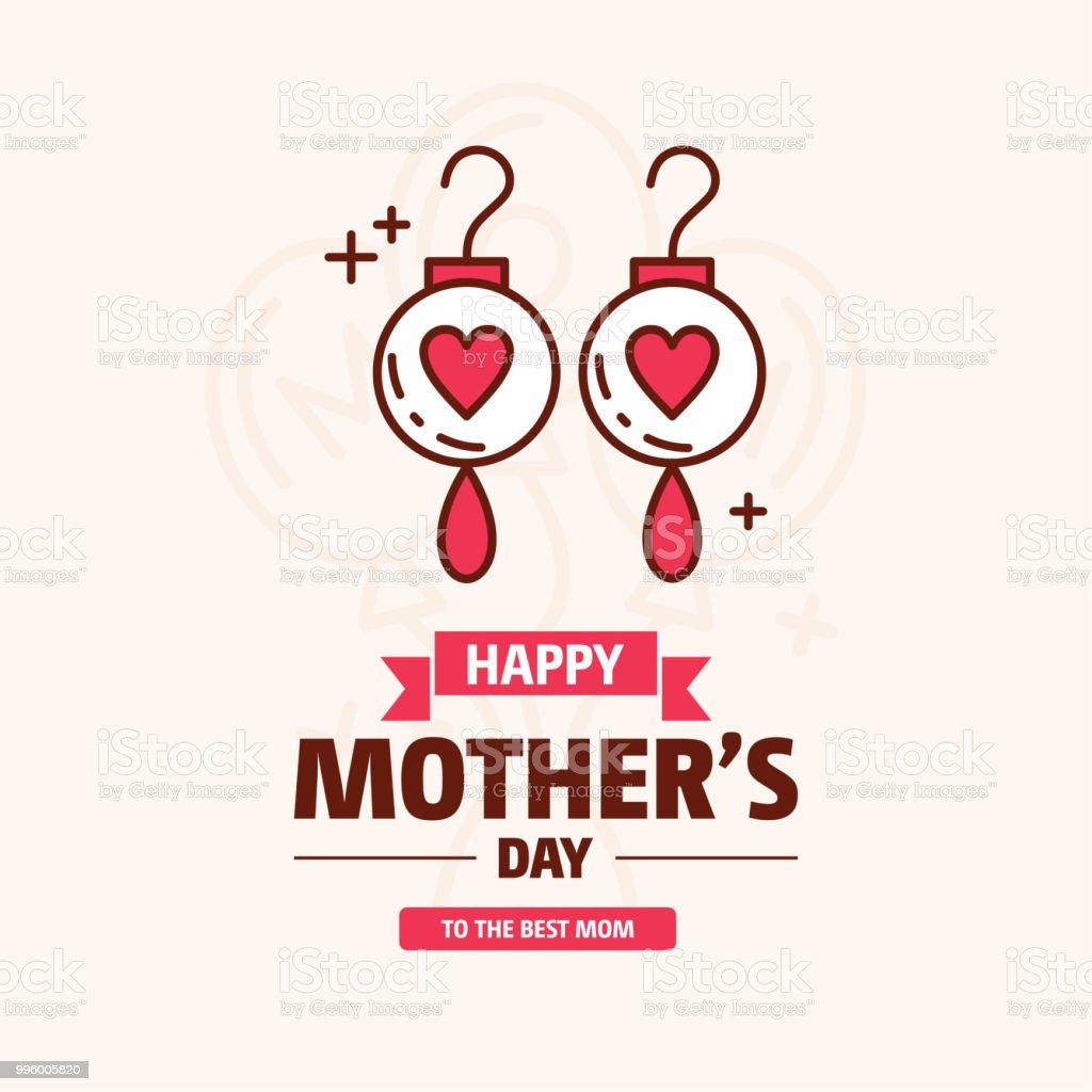 ilustración de feliz día madres flor de fiesta color rosa sobre