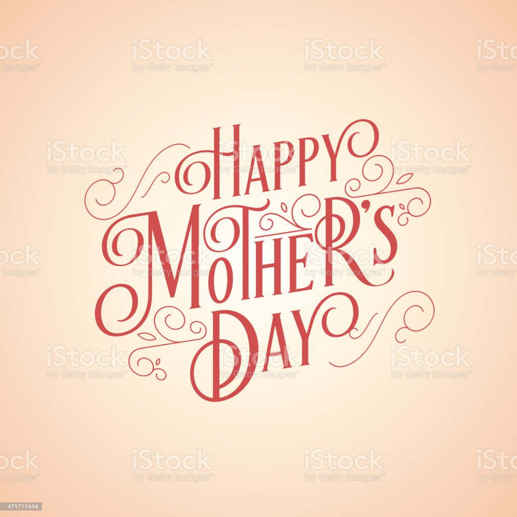 happy mother's day background vector art illustration