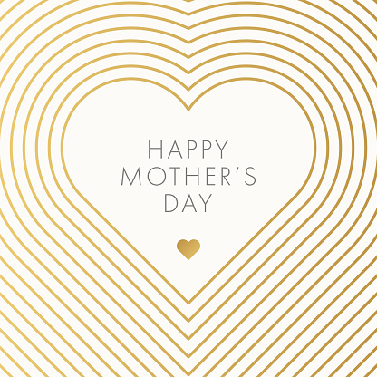 Happy Mother's Day. Beautiful modern greeting card with hearts.