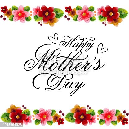 istock happy mother's day border colorful flower decoration frame 1218451328