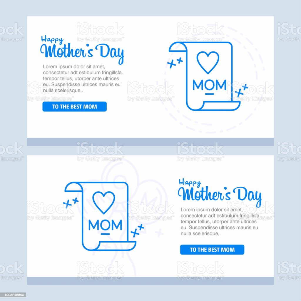 Happy Mother's Day Calligraphy Background vector art illustration