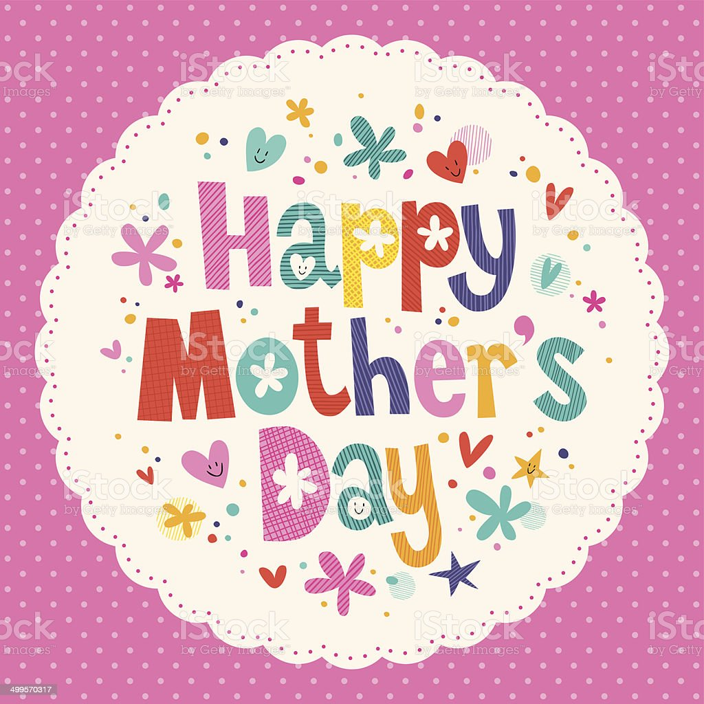 Happy Mother's Day card royalty-free stock vector art