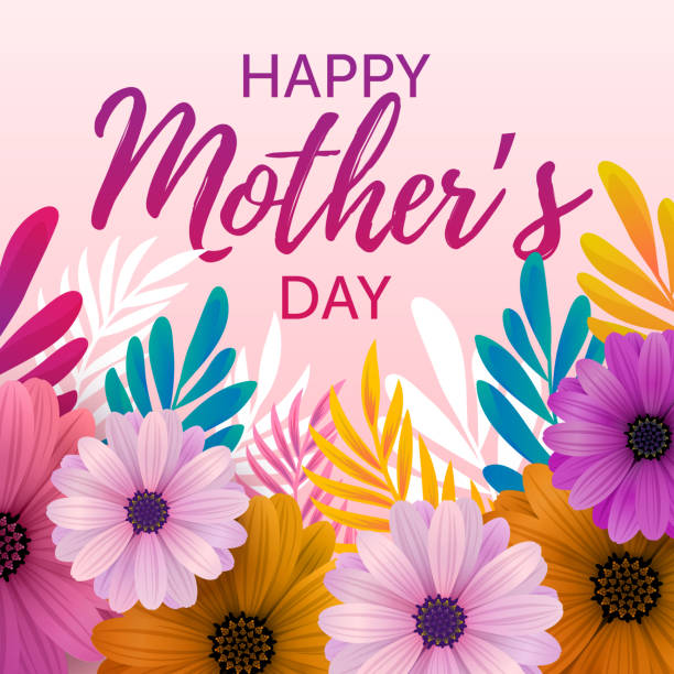 happy mother's day card - mothers day stock illustrations