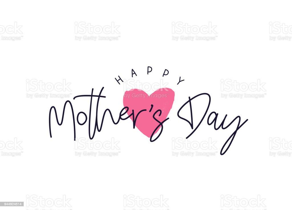 Tarjeta de feliz día de la madre - ilustración de arte vectorial