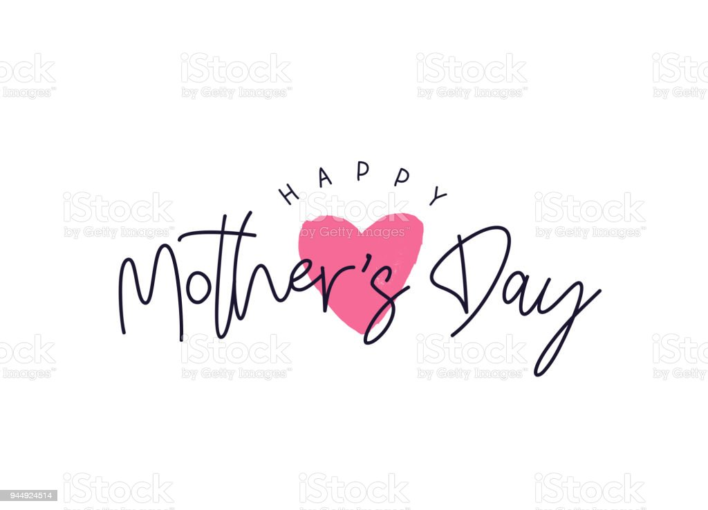 Glückliche Mütter Tag Karte – Vektorgrafik