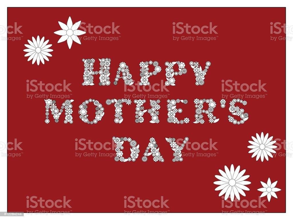 Schönen Muttertag Färbung Seite Vektorillustration Mutters Tag ...