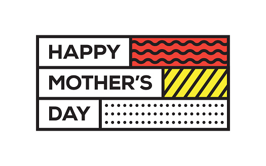 Happy Mother's Day. Creative Template. Vector Typography - Illustration