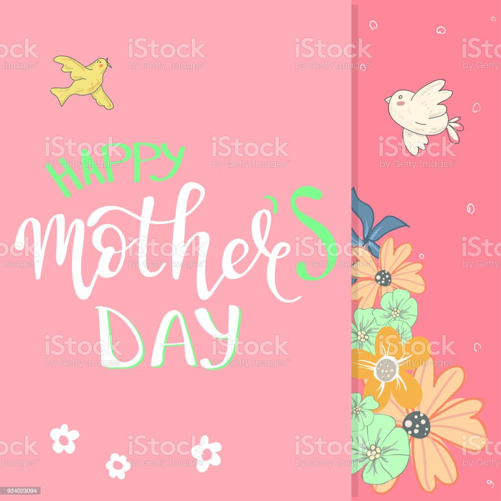 happy mothers day cute lettering stock vector art more images of
