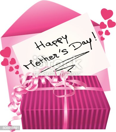 Happy mother's day gift and greeting card.