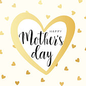 Happy Mother's day gold vector card