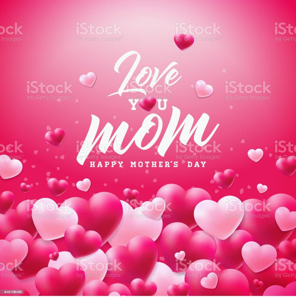 Ilustración de Feliz Día De Madres Felicitación Diseño De Tarjeta ...