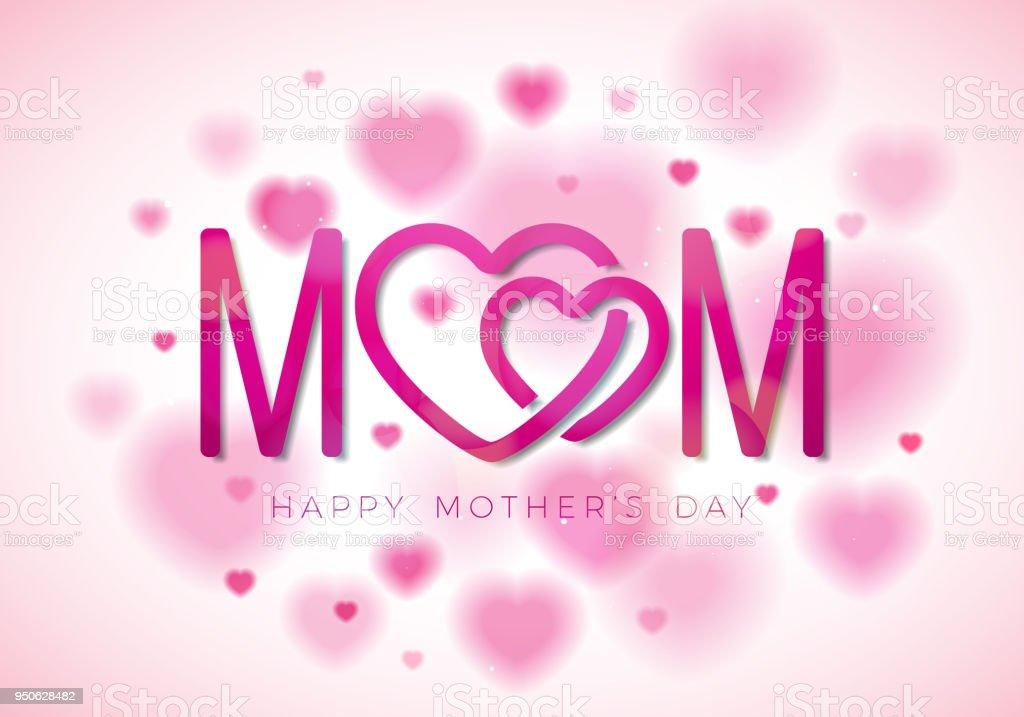 Glückliche Mütter Tag Gruß Karte Abbildung Mit Mom Typografische ...